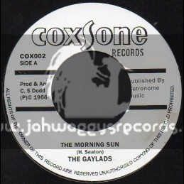 """Coxsone Records-7""""-The Morning Sun/The Gaylads + Talk To Much/Winston & Bibby"""