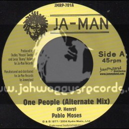 "JA-Man-7""-One People / Pablo Moses"