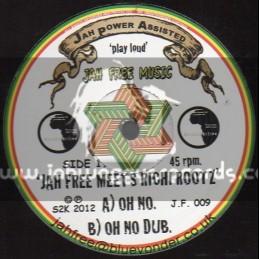 """Jah free music-12""""-Oh No / Jah Free Meets Richi Rootz"""