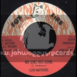 """Fox Fire Records-7""""-My Girl Has Gone / Clive Matthews"""