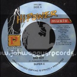 "Hi Power Music-7""-Bad Boy / Super C"