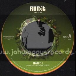 "Run It Records-7""-Haile I / Blood Lion & The Run It All Stars"