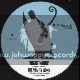"KA Records-7""-Right Words / The Mighty Lions"