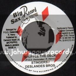 "Big Sax Records-7""-Shuffle The Deck / Stingers - Deslandes Bros"