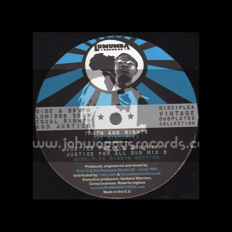 """LUMUMBA RECORDS-12""""-Truths And Rights / The Disciples + Jammin / The Disciples"""