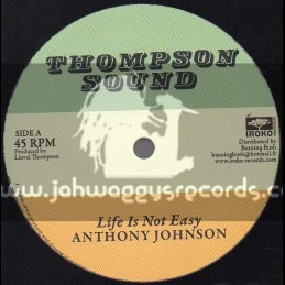"Thompson Sound-12""-Life Is Not Easy / Anthony Johnson + Rastafari Is My Religion / Linval Thompson"