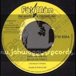 """FAT MAN RECORDS-7""""-King Of Isreal / Hugh Mundell"""