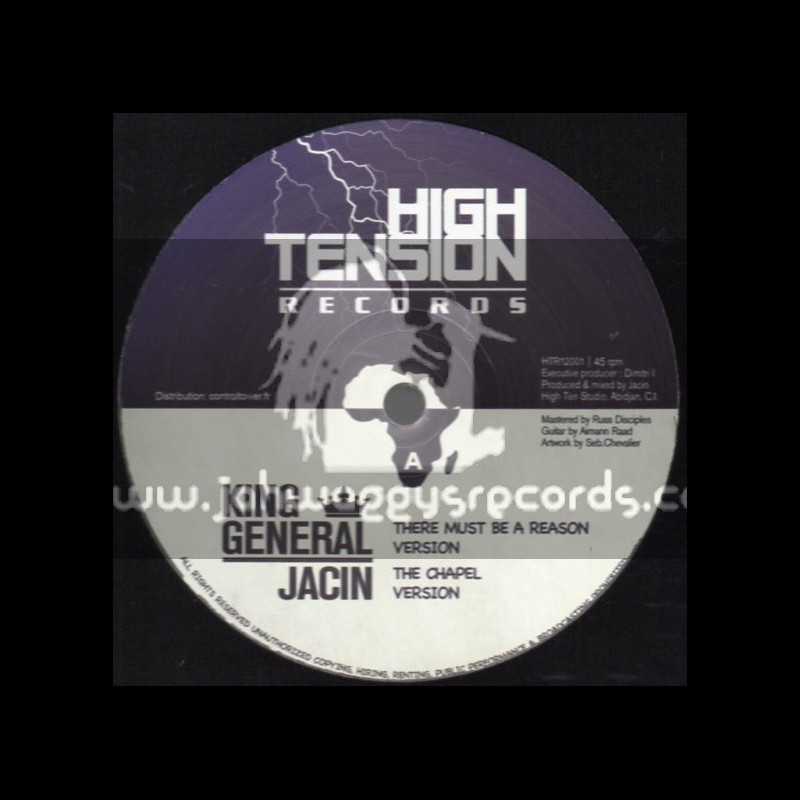 """High Tension Records-12""""There Must Be A Reason / King General + Humble Lion / Adam Raad"""