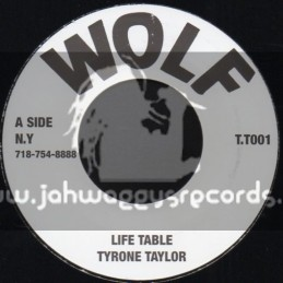 """Wolf-7""""-Life Table / Tyrone Taylor"""