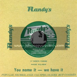 "Randys-7""-Such Is Life / Lord Creator"