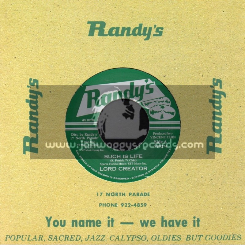 """Randys-7""""-Such Is Life / Lord Creator"""