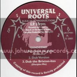 UNIVERSAL ROOTS EP(2001)-PUT DOWN DE GUNS/SANDEENO + ARRIVAL/KNATY P