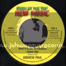 """Room At The Top New Music-7""""-What A Gwan In A Babylon / Andrew Paul (Radio Mix)"""