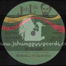 "Jah Life Records-12""-Do You Know + Long Time Ago / Ras Michael & The Sons Of Negus"