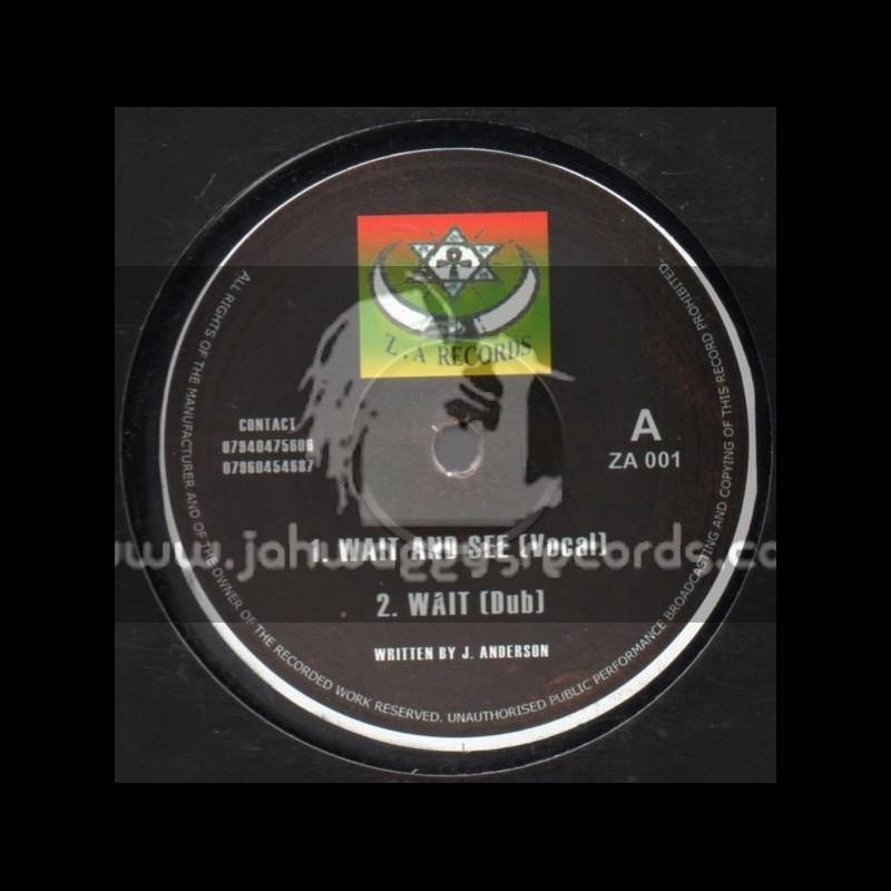 "ZA Records-10""-Wait & See + Do Right"