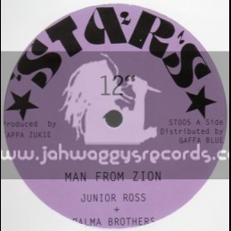 """Stars-12""""-Man Of Zion / Junior Ross & Palm Brothers"""