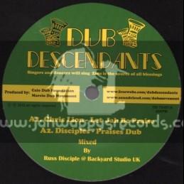 """Dub Descendants-10""""-Let Jah Be Praise / Chris Lion"""