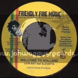 "Friendly Fire Music-7""-Welcome To Holland / Lion Art Feat.Elevayta"