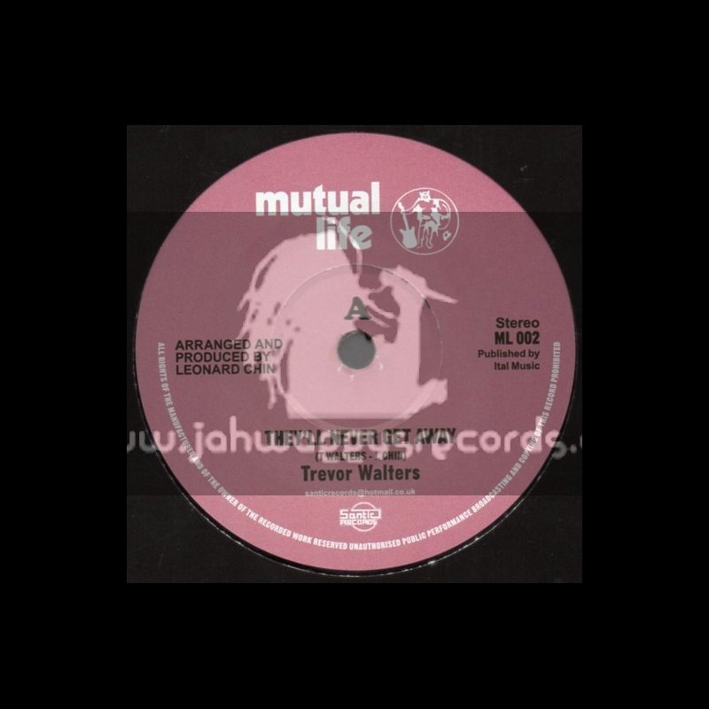 """Mutual Life-(Test Press)-7""""-They Never Get Away / Trevor Walters"""