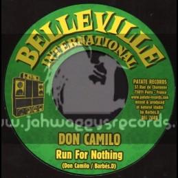 "Belleville International-7""-Run For Nothing / Don Camilo + Musicians / Joseph Cotton"