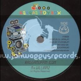 """Reggae Toy Box Records-7""""-Raggamuffin Icon / Mr Williams"""