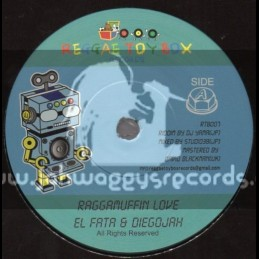 "Reggae Toy Box Records-7""-Raggamuffin Love / Diegojah & El Fata"