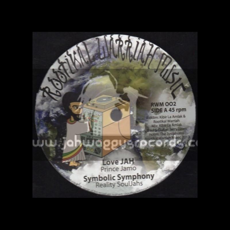 "Rootikal Warriah Music-12""-Love Jah / Prince Jamo + Symbolic Symphony / Reality Souljahs (Kibir La Amlak)"