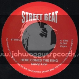 """Street Beat-7""""-Here Comes The King + Lighters Up / Snoop Lion"""