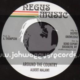 """Negus Music-7""""-Around The Country / Albert Malawi"""