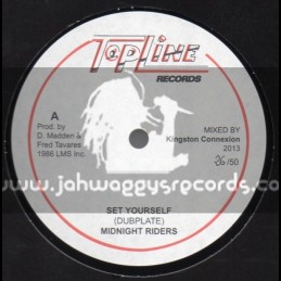 "Top Line Records-12""-Set Yourself / Midnight Riders (Dubplate)"