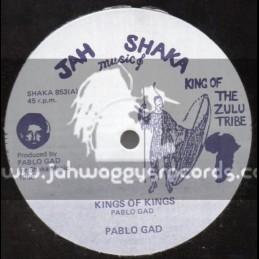 """Jah Shaka Music-12""""-King Of Kings / Pablo Gad"""