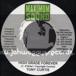 """Maximum sound-7""""-High Grade Forever / Tony Curtis"""