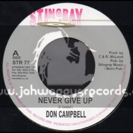 """Stingray Records-7""""-Never Give Up / Don Campbell"""