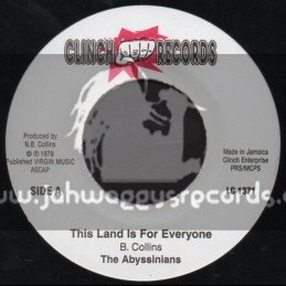 """Clinch Records-7""""-This Land Is For Everyone / The Abyssinians"""