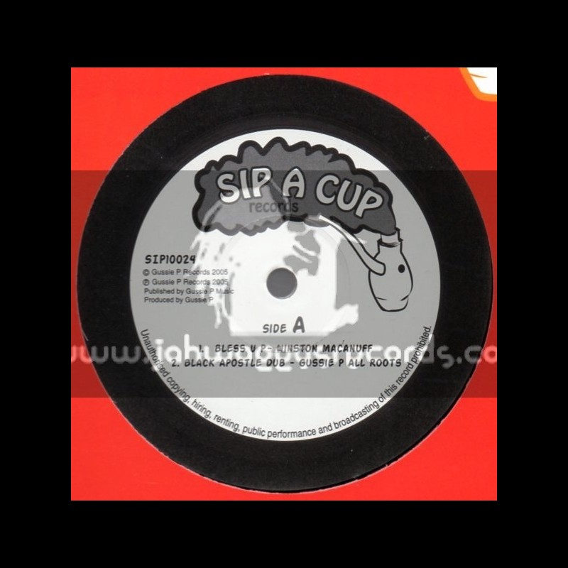 """Sip A Cup Records-10""""-Bless Up / Winston Macanuff + Africa Call / Bongo Herman"""