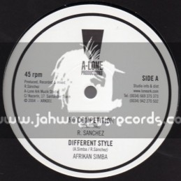 "A-Lone Productions-10""-No Competition/R.Sanchez+Different Style/Afrikan Simba+Praise Jah/Kenny Knotts"