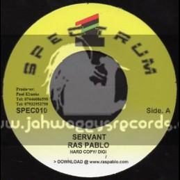 """Spectrum 1-7""""-Servant / Ras Pablo"""