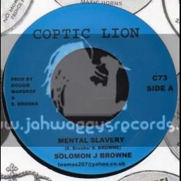 """Coptic Lion-7""""-Mental Slavery / Solomon J Brown"""