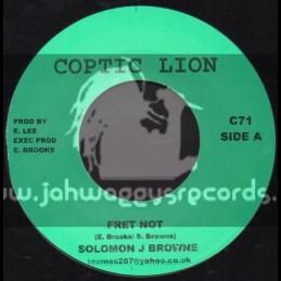 """Coptic Lion-7""""-Fret Not / Solomon J Brown"""