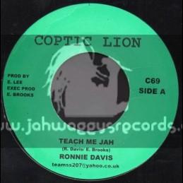 "Coptic Lion-7""-Teach Me Jah / Ronnie Davis"