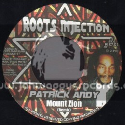 """Roots Injection-7""""-Mount Zion / Patrick Andy"""