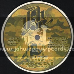 """Jah One-10""""-Jah Fire / Luciano"""