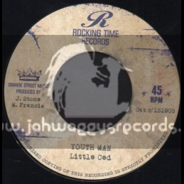 """Rocking Time Records-7""""-Youth Man / Little Ced + Pressure In A Babylon / Lone Ranger"""