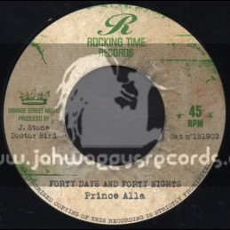"""Rocking Time Records-7""""-Forty Days And Forty Nights / Prince Alla"""