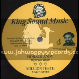 """King Sound Music-12""""-Right You Right / Horace Andy"""