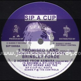 "Sip A Cup Records-10""-Promised Land / Brinsley Forde + Trodding To The Promised Land / Prince Livi Jah"