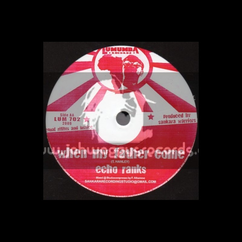 """Lumumba Records-7""""-When My Father Come / Echo Ranks + World Crisis / Earl  16"""
