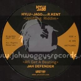 """Hylu Jago-7""""-Afi Get A Beating / Jah Defender + Mad Times / Dandelion"""
