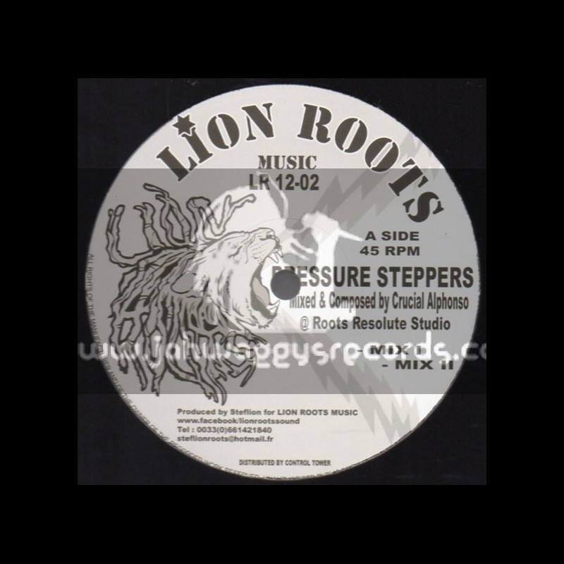 """Lion Roots Music-12""""-Pressure Steppers + Leaders Of North Africa / Crucial Alphonso (Roots Resolute)"""