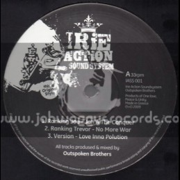 "Irie Action Sound System-12""-Jah A The Conquerer / Ranking Joe + No More War / Ranking Trevor"